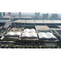 Buy cheap 30m And 40m Tent With ABS Or Glass Hard Walls Used For Canton Fair And Other Exhibition Rental Business product