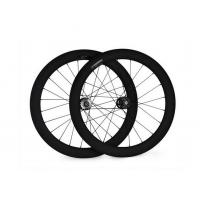 China Best quality 700c 60MM Carbon clincher wheelset with width 23mm fixed gear for track bike on sale