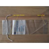 Buy cheap LDPE Clear Drawstring Plastic Bags With Perforation For Cotton Wool Pads product