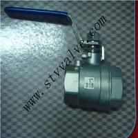 Buy cheap 2 PC Stainless Steel Threaded Floating Ball Valve product