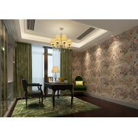 Buy cheap Removable Retro Vintage Wallpaper , Vinyl Floral Wallpaper with Waterproof product