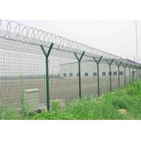 Buy cheap Y Post 3D Curved Airport Security Fencing , Welded Wire Mesh Fence Panels product
