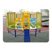 Buy cheap Outdoor Round Mobile Bungee Trampoline , Kids Mini Trampoline With Net product