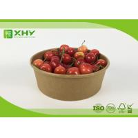 Buy cheap Disposable Printed Take Away Paper Salad Bowls High / Low Temperature Resistant product