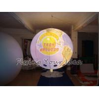 Buy cheap 170mm Tether Points Inflatable Lighting globe Balloon for Entertainment events product