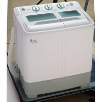 China Copper Motor Twin Tub Washing Machine 5.5 Kg Top Load With Plastic Lid Dark Grey on sale