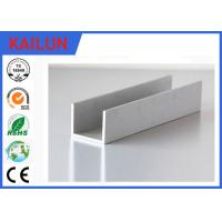 Buy cheap Building Materials Aluminium C Channel Silver Anodised 35 MM Width 3.5 MM Thick product