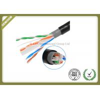 Outdoor Cat6 UTP Cable Double Jacket , 305 Meters / Roll Optical Ethernet Cable
