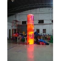 Buy cheap 5m Customized Color Advertising Helium Balloons Inflatable Pillar With Light For Party product