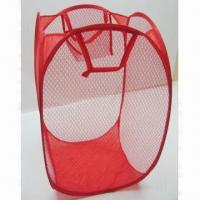 Buy cheap Laundry basket, new style, made of mesh, OEM orders are welcome product