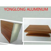 Buy cheap 6061 T3 - T8 Wood Finish Wardrobe Aluminium Profile With Color Customized product
