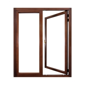 Buy cheap Wood Grain Frame Aluminum Flush Casement Doors Double Track With Heat Strip product
