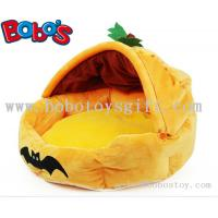 Buy cheap Specially Design Plush Stuffed Pumpkin With Bats Pet Bed As Hallowmas Gift for dog cat product