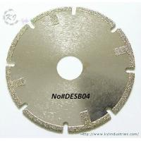 Buy cheap Electroplated Segmented Saw Blades - DESB04 (Straight protective teeth) product