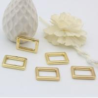Buy cheap 21 MM shiny gold metal bag adjustable square ring buckle for handbag strap product