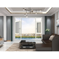 Buy cheap Frosted Glass Aluminium Framed Windows , Atomic White French Casement Windows product