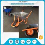 Buy cheap durable use galvanized color tray metal commercial wheelbarrow,industrial wheelbarrow for sales product