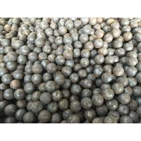 Buy cheap Grade 45 60Mn B2 Forged Steel Ball 20mm - 110mm For Grinding Mine / Ore product