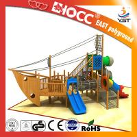 Buy cheap Amusement Park Kids Wooden Pirate Ship , Wooden Outdoor Play Equipment product