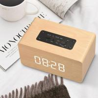 Buy cheap Wooden Wireless Alarm Clock Bluetooth Speaker Multi-functional Plug-in card Computer Speaker product