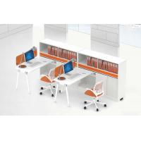 China Full set T shape 2 person office workstation wooden top and steel leg combination on sale