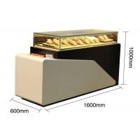 Buy cheap Lighted Jewelry Display Case , Large Wooden Display Plith In White Lacquer Finished product