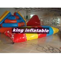 Buy cheap Red / Yellow / Blue 0.9mm PVC Inflatable Water Toys / Saturn Slide With Blob Ball product
