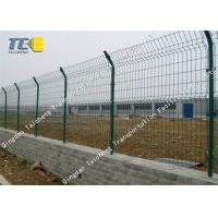 Buy cheap Railway / Subway Barbed Wire Fence Pvc Coated Anti Impact Salt Spray Resistance product