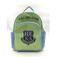 China Light Green 420D Polyester Kids School Backpacks For Traveling / Outdoor for sale