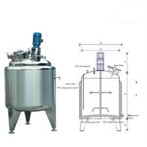 Buy cheap Customizable high speed  Energy - Saving Vertical 1000L Jam, Juice Stainless Steel Agitator product