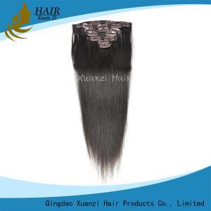 China Nature Black  Peruvian Human Hair Clip In , Brazilian Wavy Hair Extensions wholesale