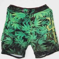 China Cool Fancy Mens Green Board Shorts Any Printing Can Be Customized Quick Dry on sale