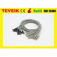Buy cheap 1 Meter EEG Medical Cable Waterproof With Silver Chloride Plated , DIN 1.5 Socket product