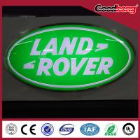 Buy cheap Round Steel Backlit Light Led Car Logo Or Emblem with their names for dealerships store product