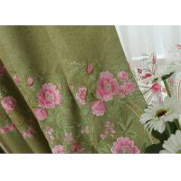Buy cheap Modern Blue / Green Embroidered Fabrics Garment Cloth Material product