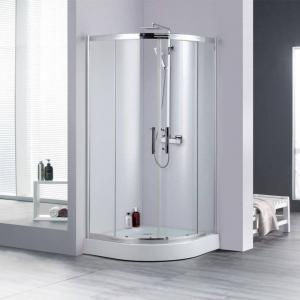 Buy cheap ODM Frameless Sliding Glass Shower Doors Ultra Silver ISO14001 Approved product