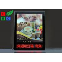 Buy cheap Advertising Magnetic Light Box Ultra Slim With Red Color LED Scrolling Text Sign product