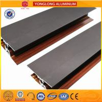 Buy cheap Wooden Finish Aluminum Extrusion Profiles For Sliding Window Decoration product