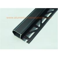 Quality Anodized Black Metal Stair Nosing For Tile With Curved Edge Long  Lifespan For Sale ...