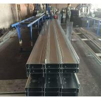 China Q235b Q345b Galvanised Steel Purlins Cold Bending Spacing Steel Channel on sale