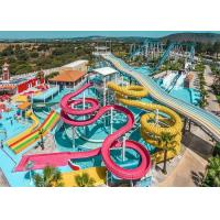Buy cheap Colorful Fiberglass Swimming Pool Water Slides Durable Playground Equipment product