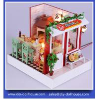 China Diy Wooden Miniature Doll House Furniture Toy Miniatura Puzzle Model F003 on sale