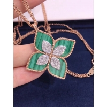 Buy cheap 18K VENETIAN PRINCESS MEDIUM FLOWER MALACHITE & DIAMOND NECKLACE from wholesalers