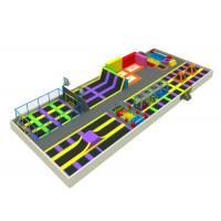 Quality Large Inside Trampoline Park , Playland Trampoline With Multiple Products for sale