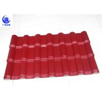 Buy cheap Embossed Surface Red Synthetic Resin Roof Tile 219 mm Pitch Size product