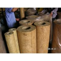 Light weight rockwool pipe insulation for hot cold pipe for Rockwool pipe insulation prices