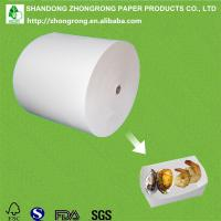 PE coated paperboard for seafood tray