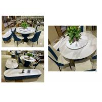 China Elegant Coffee Table And Chairs Good Rigidity With Faux Marble Surface on sale