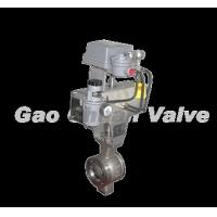 Quality The pneumatic Model V piston type regulates the ball valve for sale
