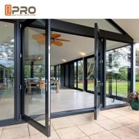 Buy cheap Large Size Heavy Duty Aluminium Hinged Doors / Frosted Tempered Glass Door GLASS from wholesalers